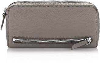 Alexander Wang Fumo Continental Wallet In Matte Mink With Rhodium