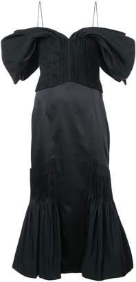 Jonathan Simkhai fitted spaghetti strap dress