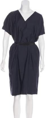 Brunello Cucinelli Belted Midi Dress w/ Tags