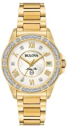 Bulova Women's Marine Star Diamond Bracelet Watch, 32mm - 0.025 ctw
