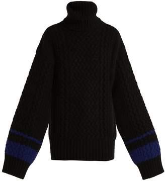 Haider Ackermann Cashmere and angora-blend roll-neck sweater