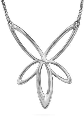 Nambe Sterling Silver Looped Star Pendant Necklace
