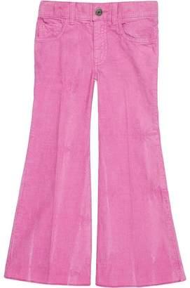 Gucci Kids Children's flare corduroy pants