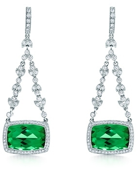 Tiffany & Co. Green tourmaline drop earrings