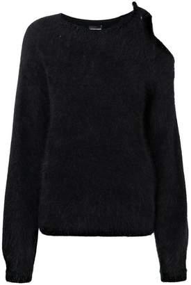 Emporio Armani bow knit jumper