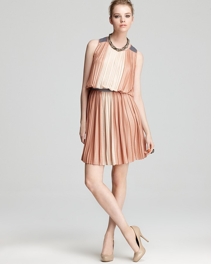 BCBGMAXAZRIA Dress - Sofi Color Block Pleated