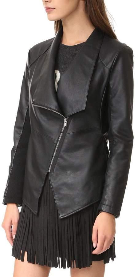BB DakotaBB Dakota Black Leather Jacket