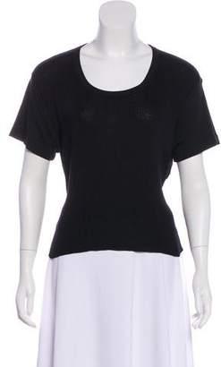 Sonia Rykiel Tie-Accented Short Sleeve Top