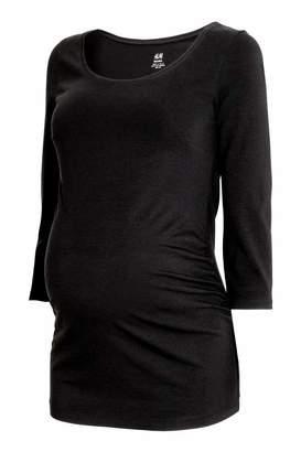 H&M MAMA Jersey Top - Black - Women