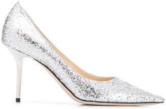 Jimmy Choo glitter stiletto pumps