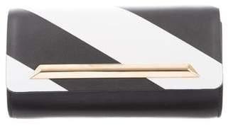 Yliana Yepez Striped Leather Clutch