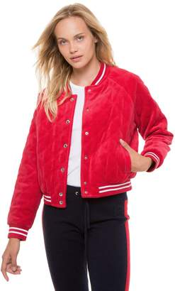 Juicy Couture Velour Quilted Bomber Jacket