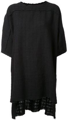 Faith Connexion woven raw edge T-shirt