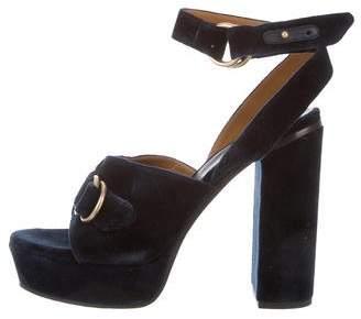a8df476beeb Chloe Velvet Sandals - ShopStyle