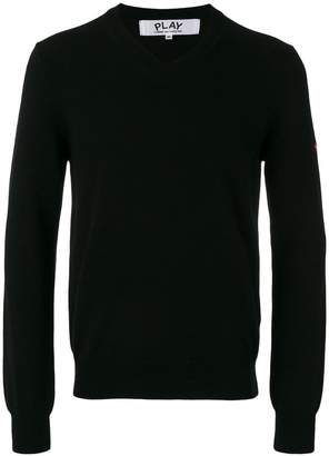 Comme des Garcons embroidered heart patch sweatshirt