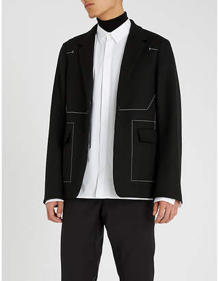 Jil Sander Contrast-stitch wool jacket