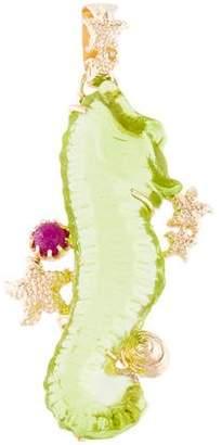 Tagliamonte Ruby & Glass Seahorse Pendant