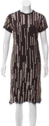 Lanvin Embellished Shift Dress