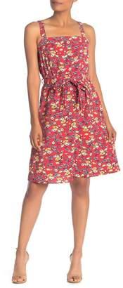 SUPERFOXX Square Neck Tie Front Dress