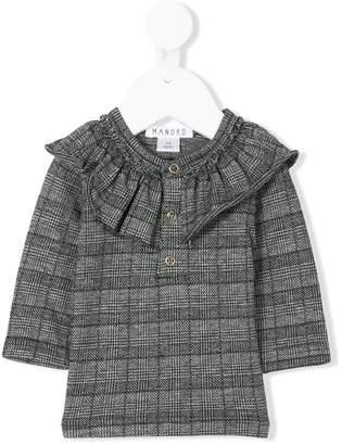 Manoko long-sleeve check blouse