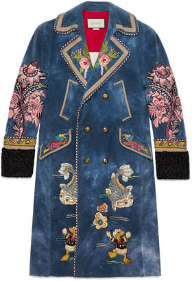 Embroidered velvet coat $10,850 thestylecure.com