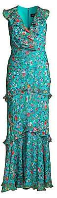 Saloni Women's Rita Floral Maxi Dress