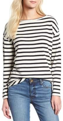 Lou & Grey Stripe Shirttail Top