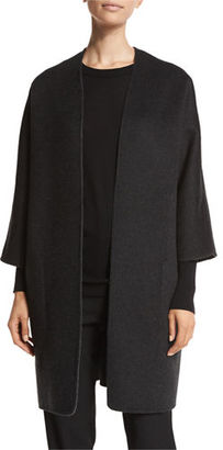 Vince Reversible Wool-Cashmere Cardigan Coat $695 thestylecure.com