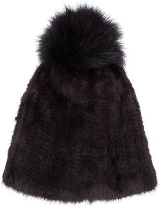 Yves Salomon Accessories knitted pom pom hat