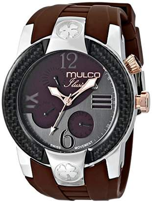 Mulco Unisex MW5-1877-035 ILUSION CRESCENT Analog Display Swiss Quartz Watch