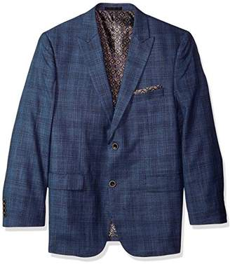 Alexander Julian Colours Men's Big & Tall Single Breasted Modern Fit Plaid Sportcoat