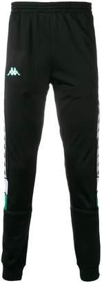 Kappa contrast logo track pants