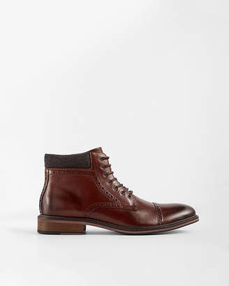 Express Wool Cuff Cap Toe Brogue
