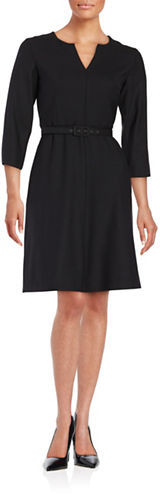 Max Mara Weekend Max Mara Belted A-Line Dress