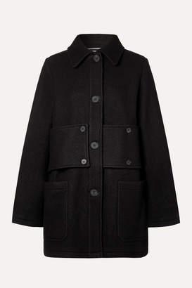 McQ Paneled Wool-felt Coat - Black