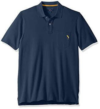 Margaritaville Men's Short Sleeve Parrot Pique Polo