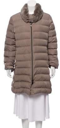 Cinzia Rocca Fur-Trimmed Puffer Coat