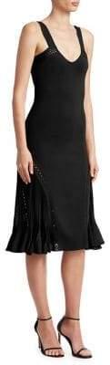 Roberto Cavalli Women's Knit Scoopneck Fit-&-Flare Dress - Blue White - Size 44 (8)