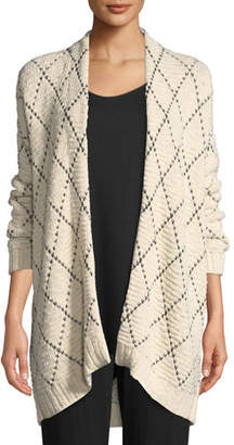 Eileen Fisher Diamond Kimono Cardigan, Plus Size