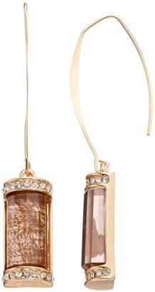 JLO by Jennifer Lopez Rectangular Stone Nickel Free Drop Earrings