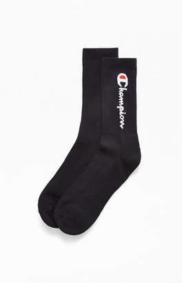 Champion Vertical Logo Crew Socks