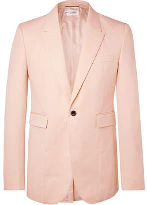 d4ca0a7848c0c Saint Laurent Pink Slim-Fit Virgin Wool Blazer - Men - Pink