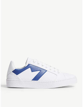 Maje Frenchie leather-detail canvas trainers