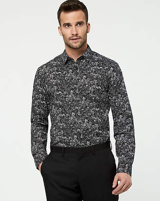 Le Château Novelty Print Cotton Tailored Fit Shirt