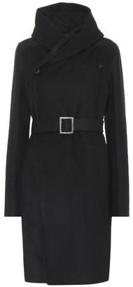 Rick Owens Belted wool-blend coat