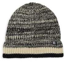 Marled Striped Cuff Beanie