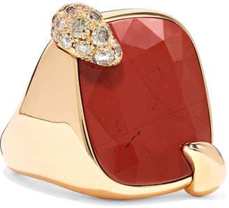 Pomellato Ritratto 18-karat Rose Gold, Jasper And Diamond Ring