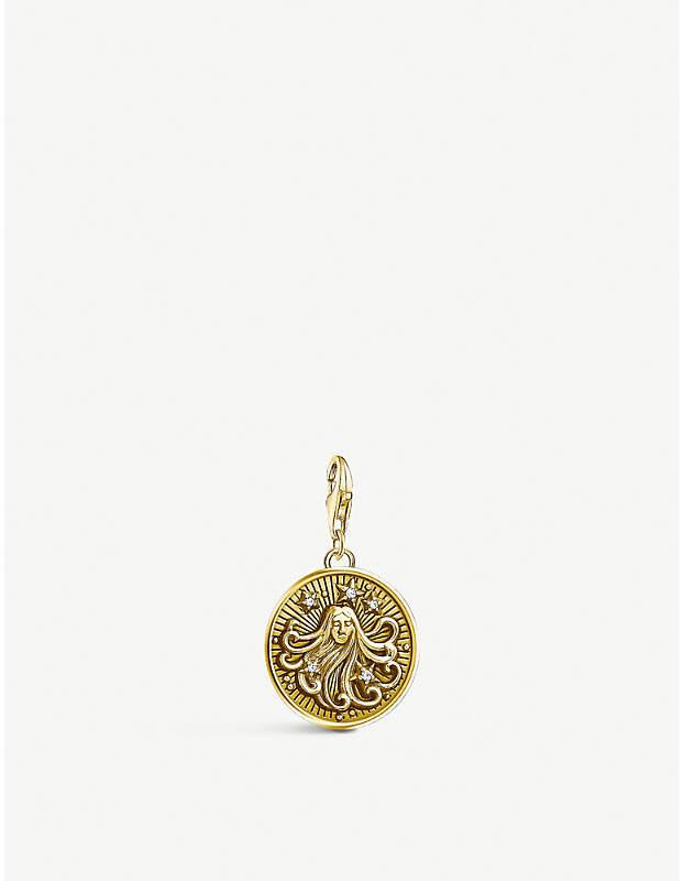 Virgo gold-plated zodiac charm