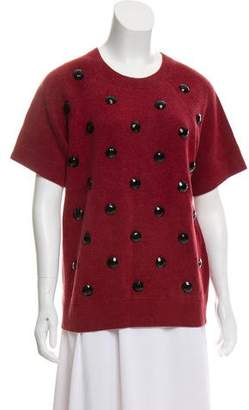 Marc Jacobs Embellished Short Sleeve Sweatshirt
