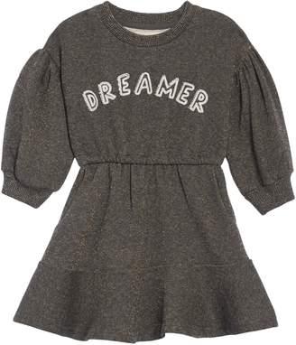 Peek Aren't You Curious Dreamer Metallic Puff Sleeve Dress
